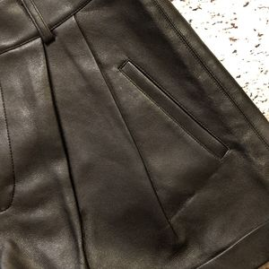 Faux Leather Black Shorts Size S
